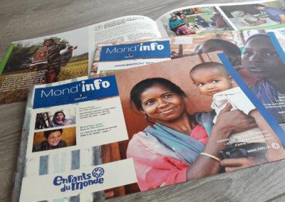Enfants du monde – Rapport Annuel & Magazine Donateurs