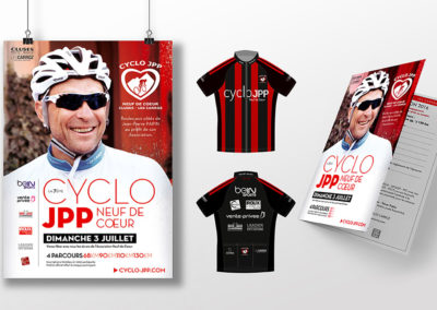 Cyclo Jean-Pierre Papin – Affiche, maillot