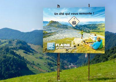 Flaine – Affichage grand format bord de route